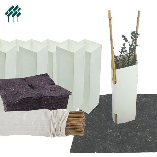 Milk Carton Tree Guards 2 Litre Field's Environmental Solutions